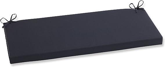 Amazon Com Pillow Perfect 502014 Outdoor Indoor Fresco Bench Swing Cushion 45 X 18 Black Home Kitchen