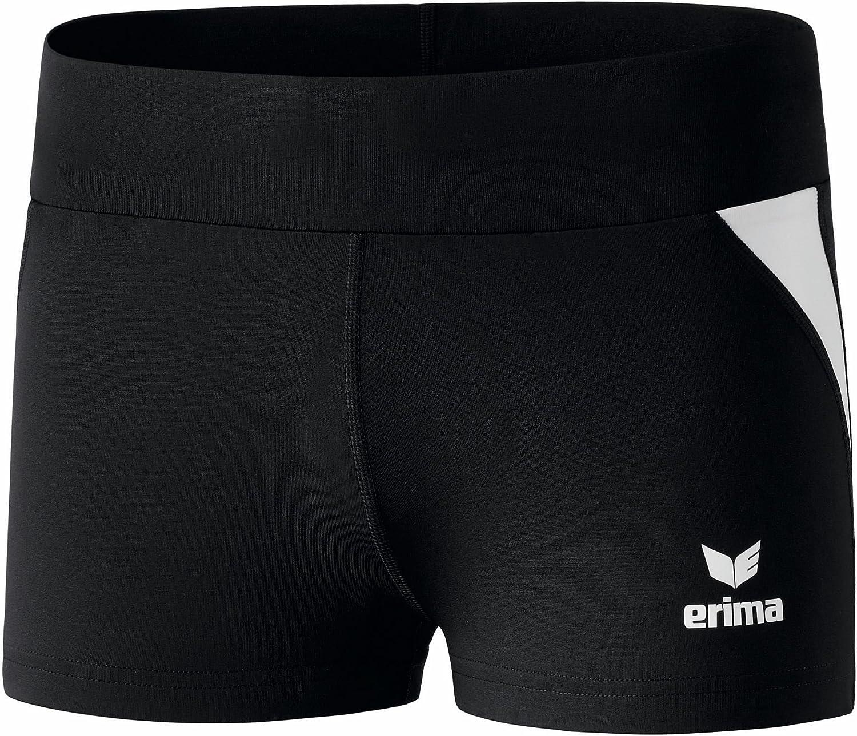 TALLA 40. erima - Mallas Deportivas (Pata Corta), Color Negro y Blanco