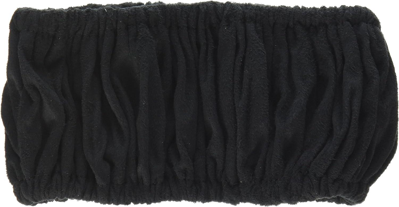 E 54954 Black Microsuede Scrunchie Steering Wheel Cover Elegant