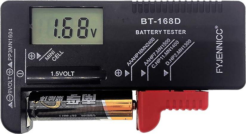 Fyjennicc Digitaler Batterietester Für Aa Aaa C D 9 V Elektronik