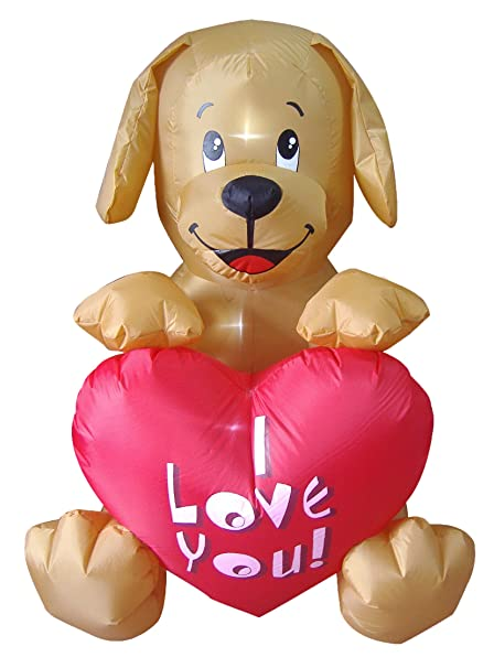 0fe75f4de3cbc 4 Foot Inflatable Puppy, Great for Anniversary, Wedding and Valentine's Day  Party Decoration