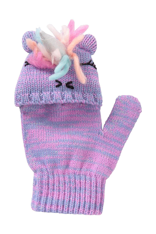 colori assortiti RJM Guanti da ragazza con unicorno 2 in 1