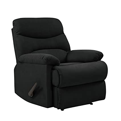 handy hugger com microfiber recliner wall in prolounger amazon living chair dp black