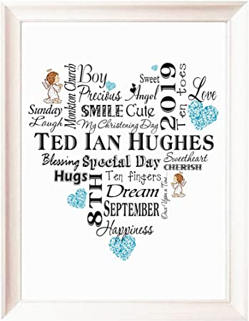 Baby Girl Gift Nursery Unframed P107 Baby Boy Print Personalised New Baby Gift