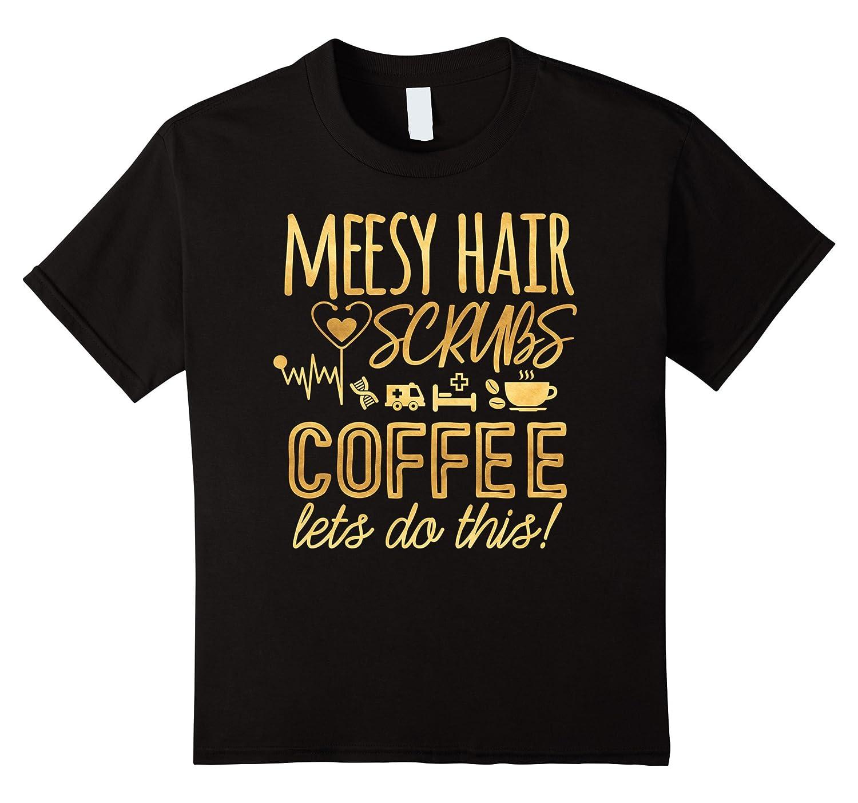 Nurse Messy Hair Scrubs T Shirt-Tovacu