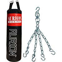 AURION 2525 FILLED PUNCHING BAG 5 FEET Strong Punching Bag Filled for Boxing Mma Sparring Punching Training Kickboxing Muay Thai