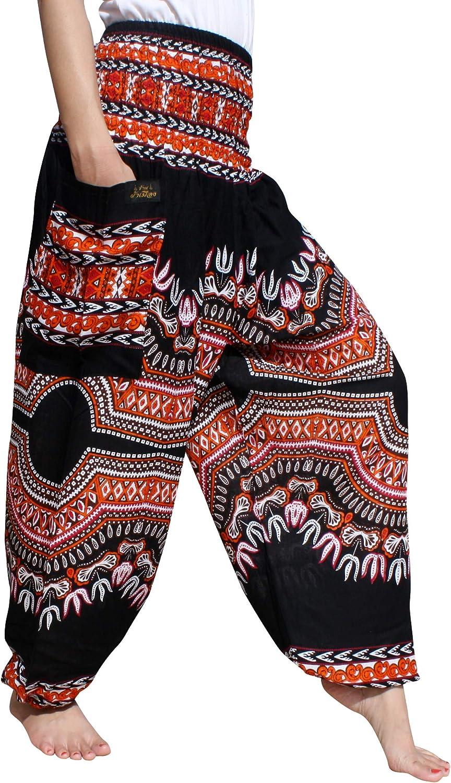 RaanPahMuang Brand Smock Waist Rayon African Dashiki Art Harem Baggy Pant Plus