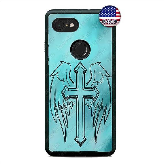 Amazoncom Christian Cross Angel Wings Jesus Christ Slim