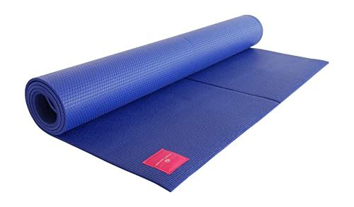 Yoga Mad Studio Yoga Mat Wide Blue Amazon Co Uk Sports