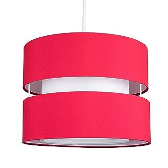Diffuseur Rouge Avec Jour Centrale En NiveauxPour Moderne SuspensionFini 2 Tissu Abat Tambours UVzpqSM