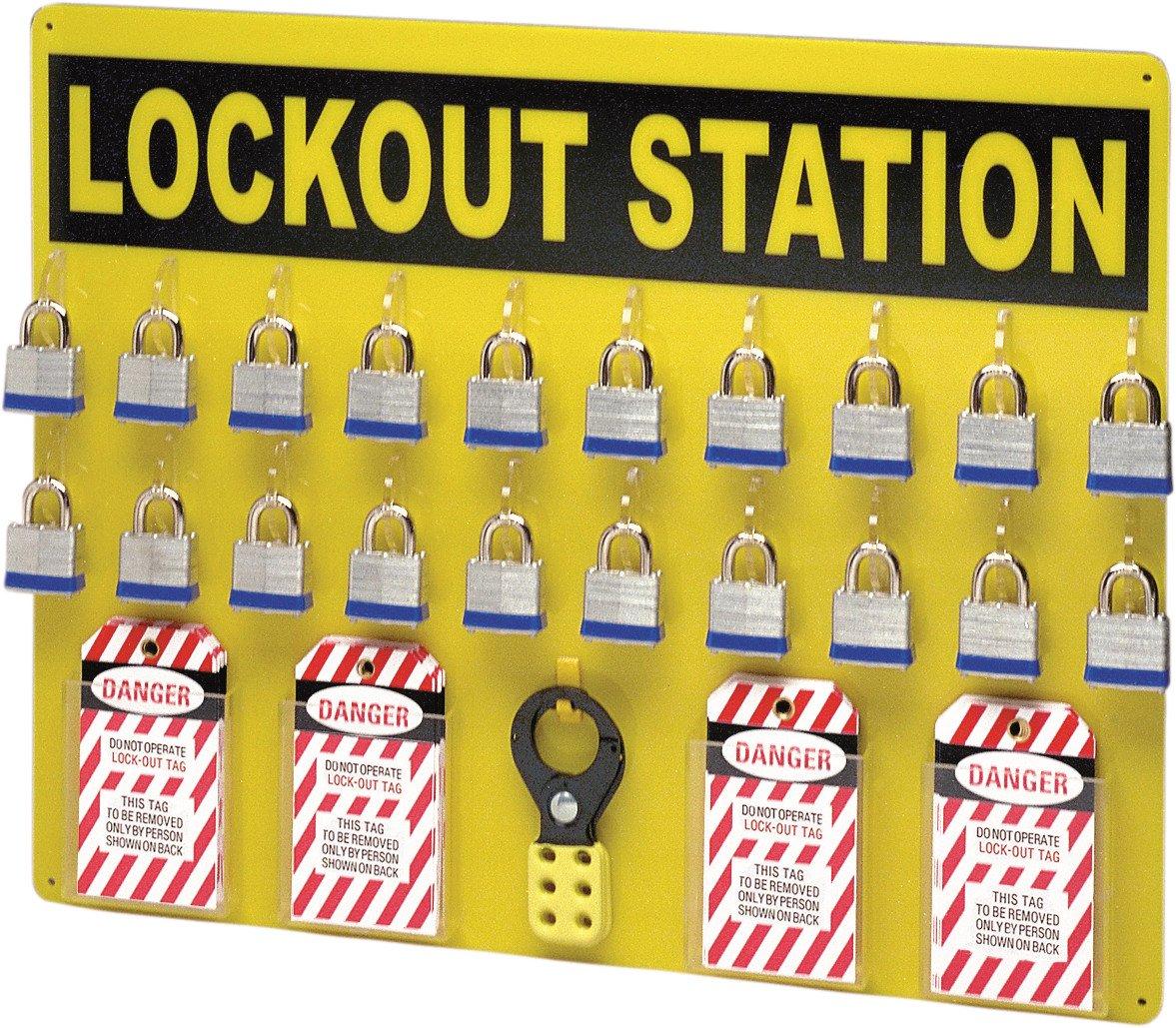 Brady LC209G Prinzing Lockout Station eqpd 19x24 (1 Station)