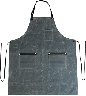 product image for Industry Apron - Waxed Canvas - Charcoal - Made in USA