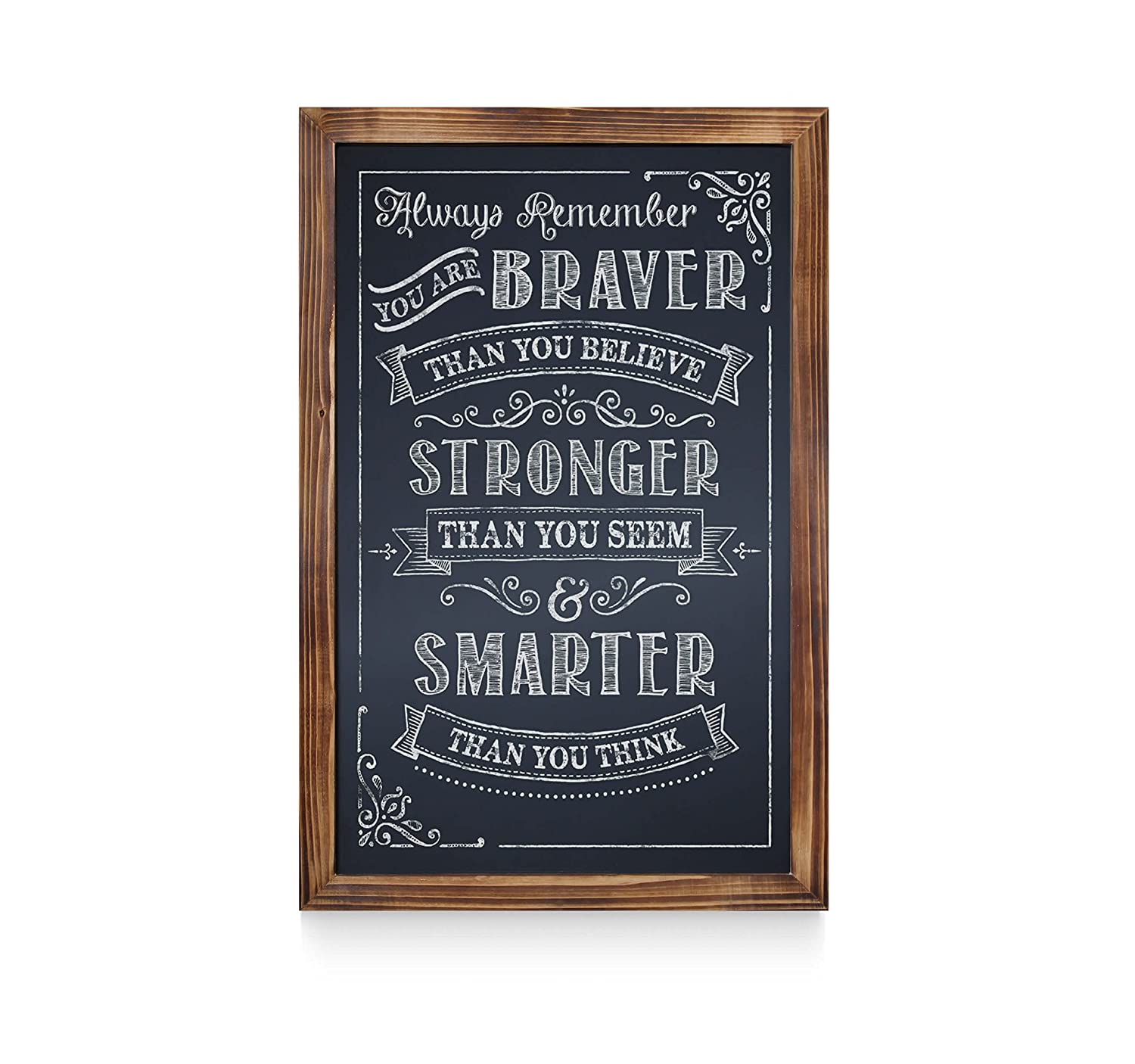 Extra Large Size 20 x 30 Extra Large Size 20 x 30 20 x 30 /… Restaurant Menus and More Weddings HBCY Creations Rustic Torched Wood Magnetic Wall Chalkboard Framed Decorative Chalkboard Great for Kitchen Decor