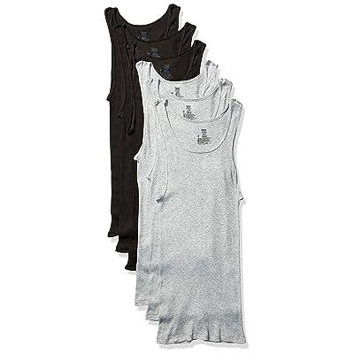 Hanes Ultimate Men's Dyed Tank (Black/Grey) at Amazon Men's Clothing store