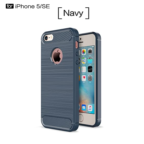 Amazon.com: Apple iPhone 5S Case, SsHhUu Carbon Fiber Design ...