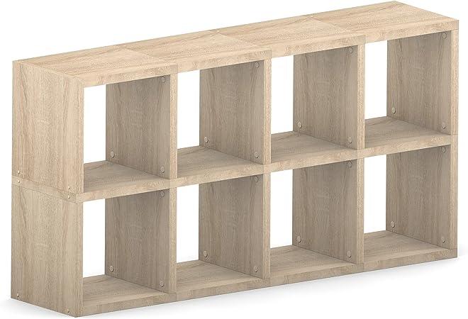 Cubo de almacenamiento de cubos estantes Modular 8 cubo roble ...