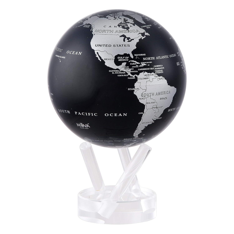 """Black and Silver MOVA Globe 4.5"""""""