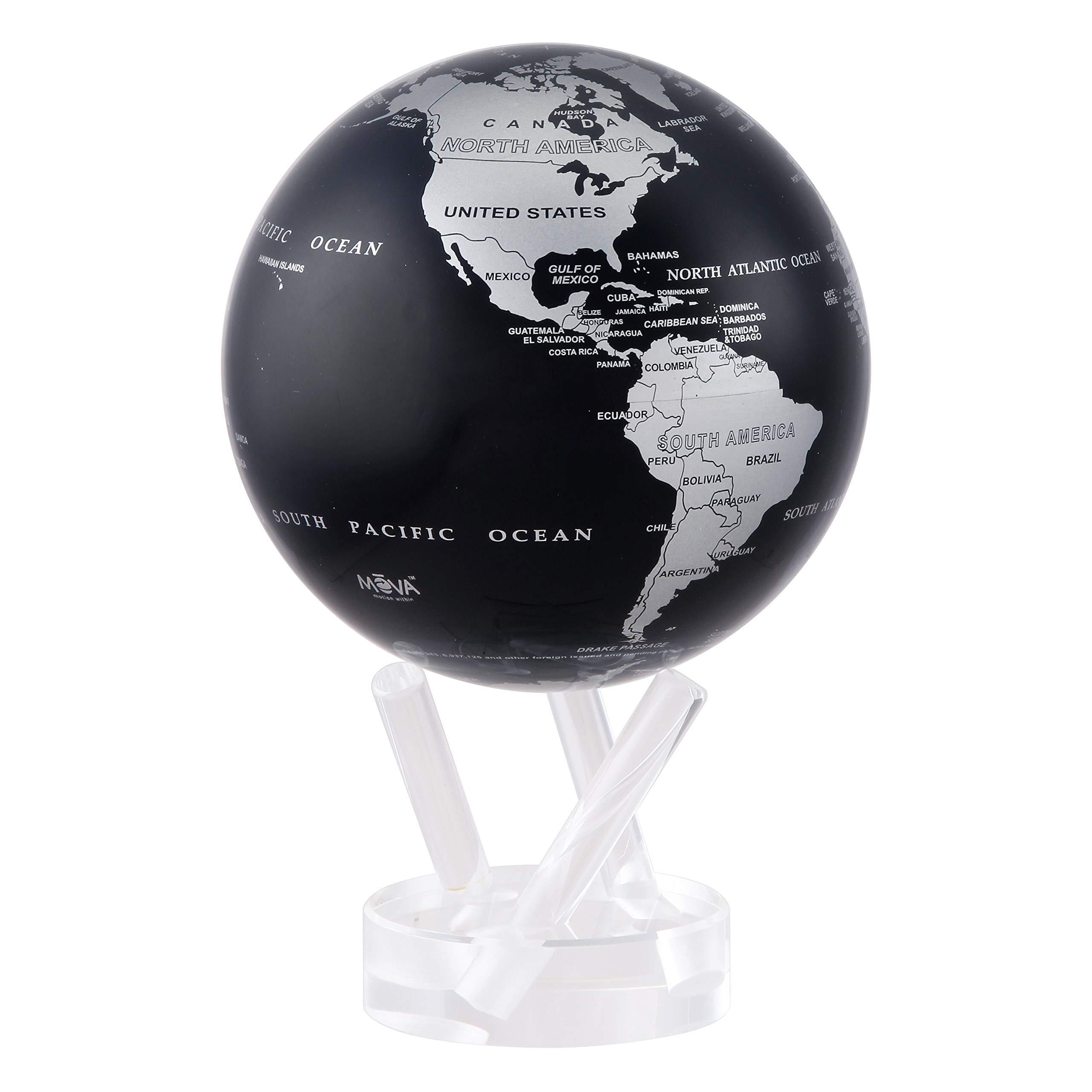 4.5'' Silver and Black Metallic MOVA Globe by Mova