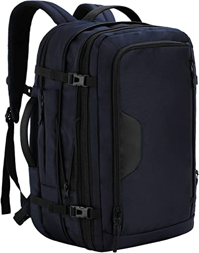 MIER Expandable Travel Backpack Waterproof Carry-on Weekender Bag, 40L, Blue
