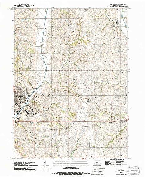 Amazon Com Yellowmaps Glenwood Ia Topo Map 1 24000 Scale 7 5 X