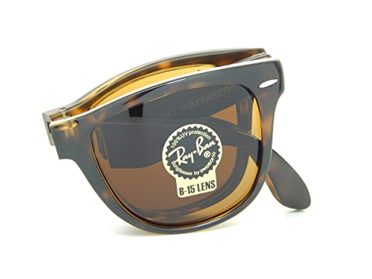 c6d54a3a65d Image Unavailable. Image not available for. Color  New Ray Ban Folding  Wayfarer RB4105 710 Tortoise Light ...