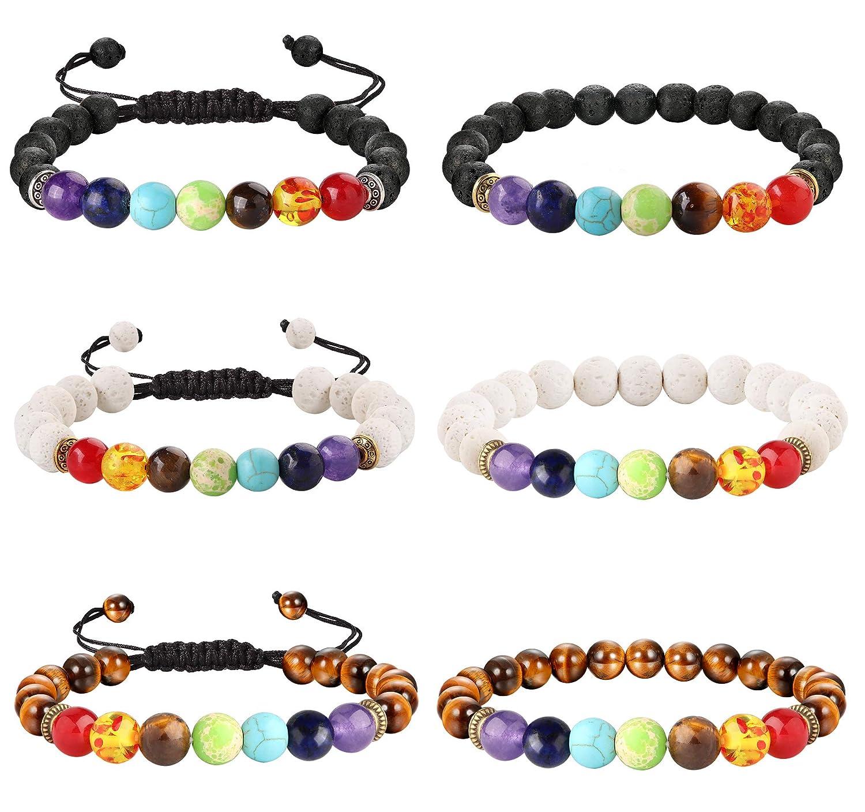 7 Chakra Heilung Perlen Armband natürlichen Lavastein Diffusor Armband Schmuck