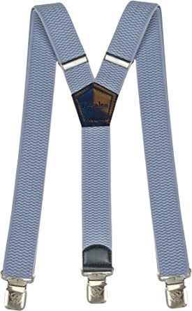 Mens Braces Wide Adjustable Elastic Suspenders Y Back Shape One Size With Heavy Duty Clips