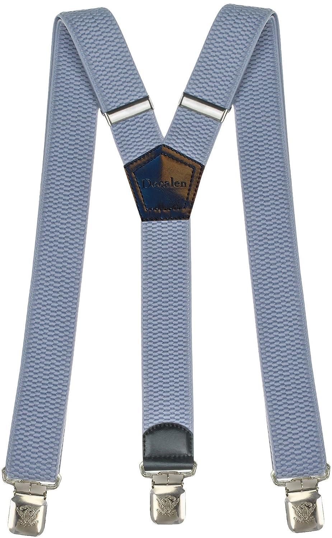 2a5f52205 Tirantes Hombre Elásticos Ancho 40 mm con clips extra fuerte totalmente  adjustable todos los colores Msendro
