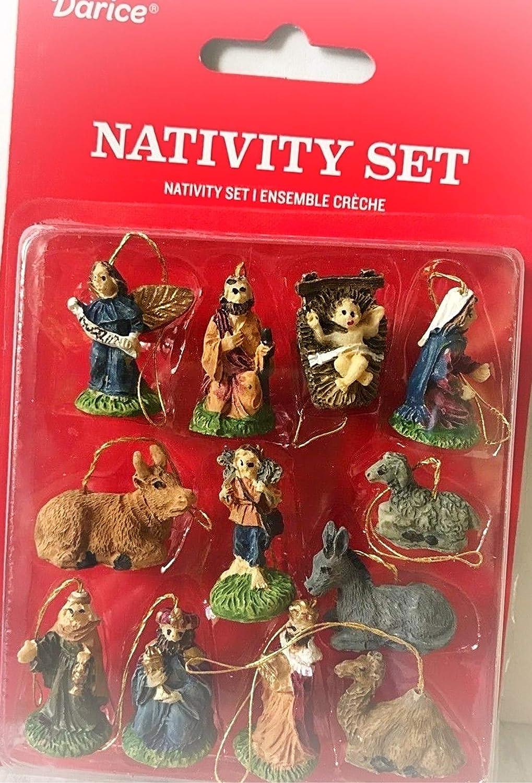 "Miniature Dollhouse Mini CHRISTMAS Tree ~ 12 1/"" Resin Nativity Ornaments"