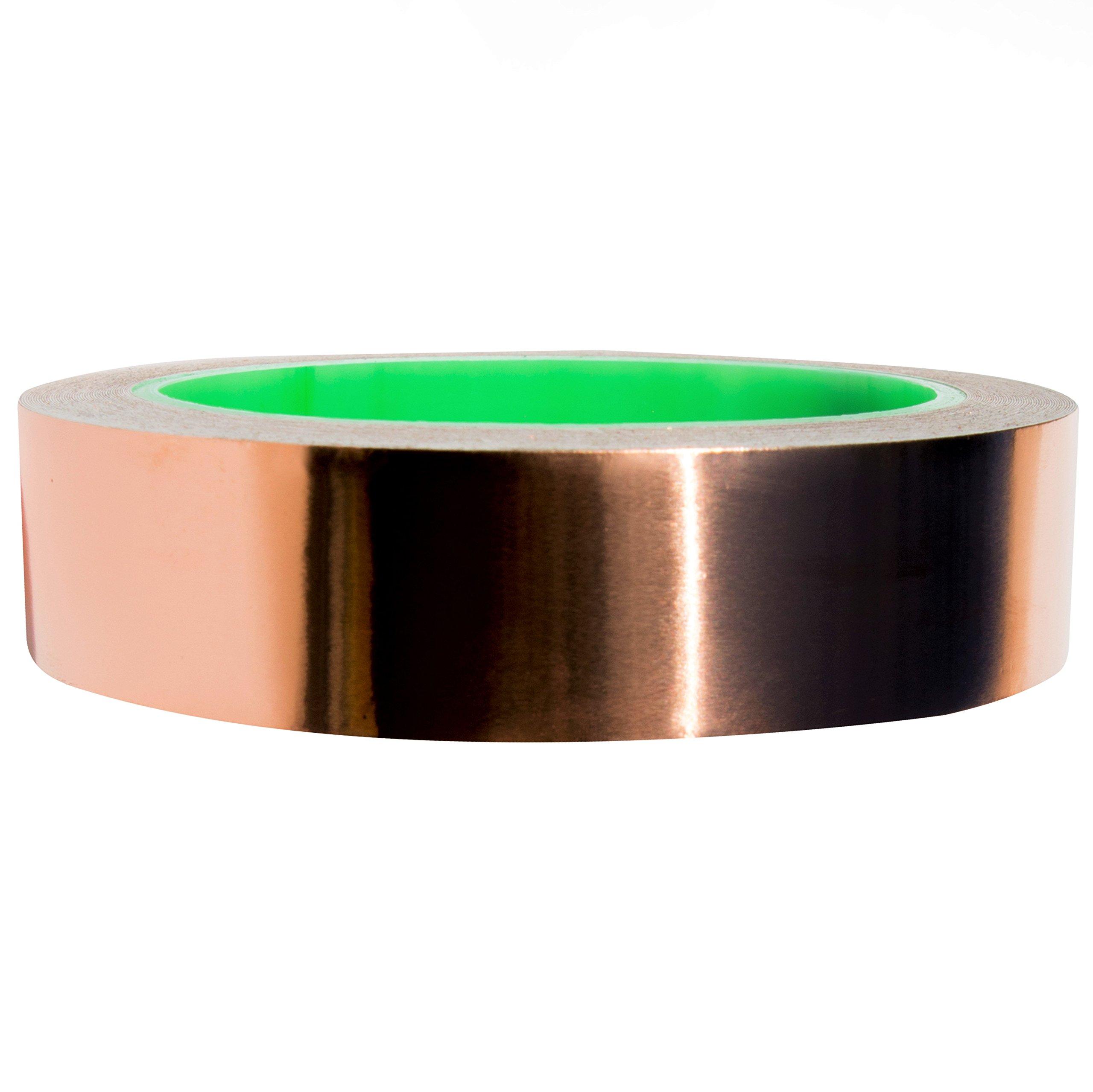 1inch X 12yards Copper Foil Tape with Conductive Adhesive EM - Slug Repellent