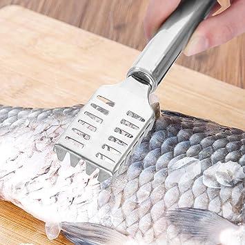 Quitamanchas de pescado de acero inoxidable para limpieza de peces, para cocina, descalcificador de pescado y accesorios de Kithchen y elimina ...