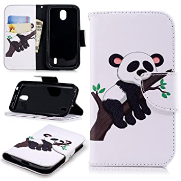 newest de694 0f954 COZY HUT Nokia 1 Case,Nokia 1 Phone Case [Kickstand] [Card Slots] [Magnetic  Closure] Premium Flip Wallet Case for Nokia 1 - Big Tree Panda