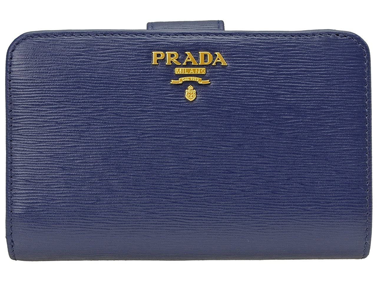 (プラダ) PRADA 財布 二つ折り レザー 1ML225 アウトレット [並行輸入品] B07195TJ64Bluette