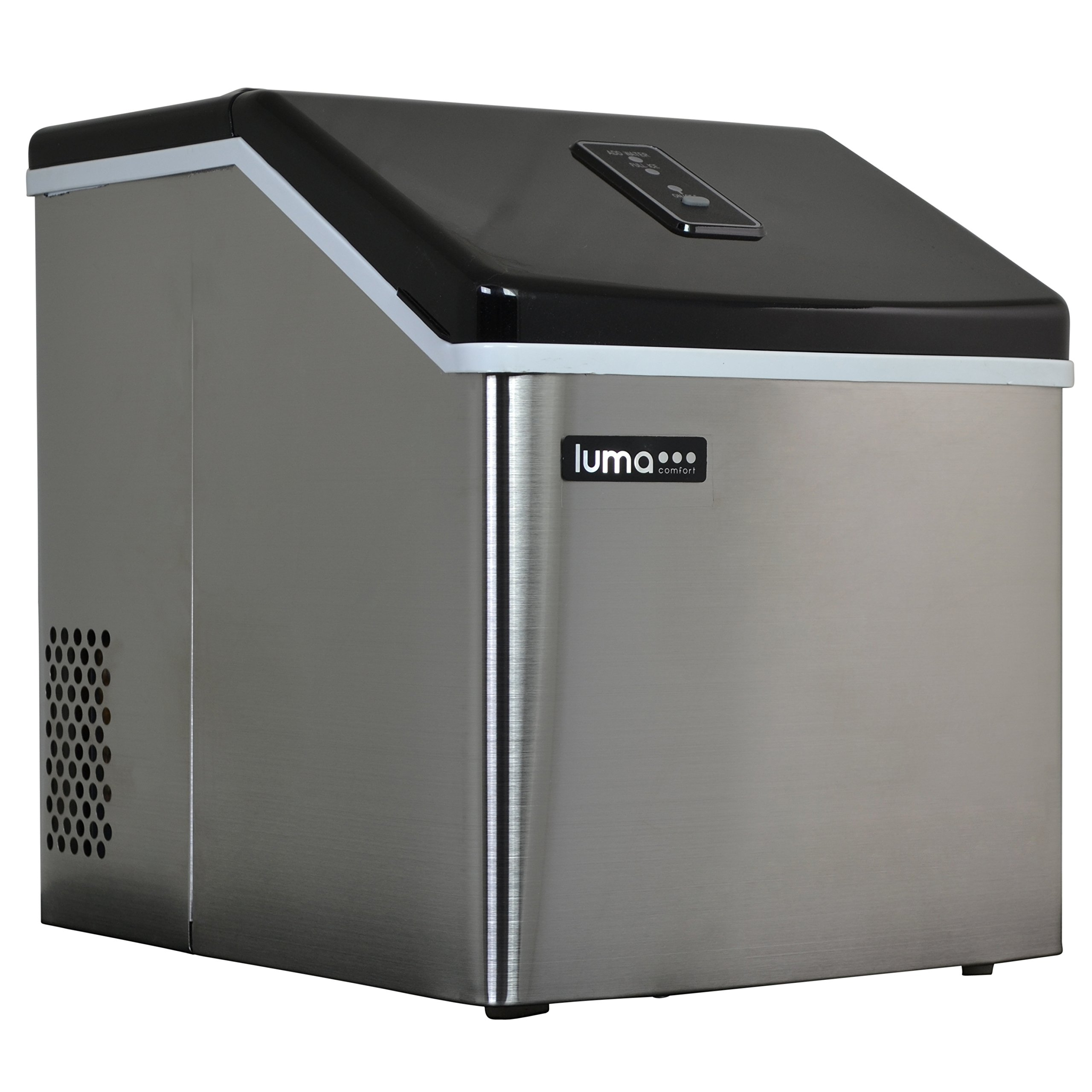 Luma Comfort IM200SS Portable Clear Ice Maker, Stainless Steel