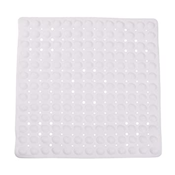 Amazon.com: DMI Non-Slip Suction Cup Shower Mat with Drain Holes, 21 ...