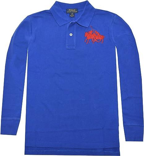 Ralph Lauren Niños Polo Camiseta de Manga Larga Azul Polo Jinete ...