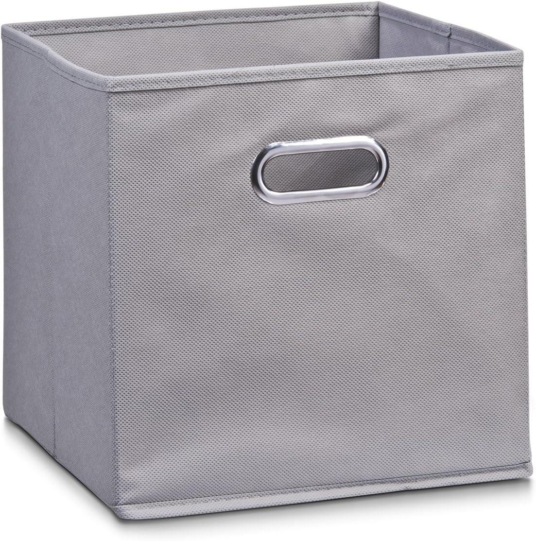 Zeller 14130 - Caja de almacenaje de tela, plegable, 28 x 28 x 28 cm, color gris