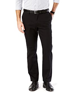 07bbd0350de496 Dockers Men's Straight Fit Signature Khaki Lux Cotton Stretch Pants D2