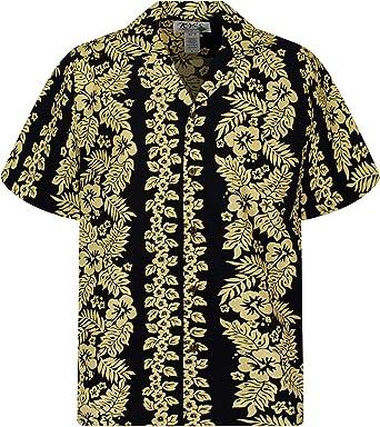 KY´s Original Camisa Hawaiana, Golden Garland, negro 3XL: Amazon.es: Ropa y accesorios