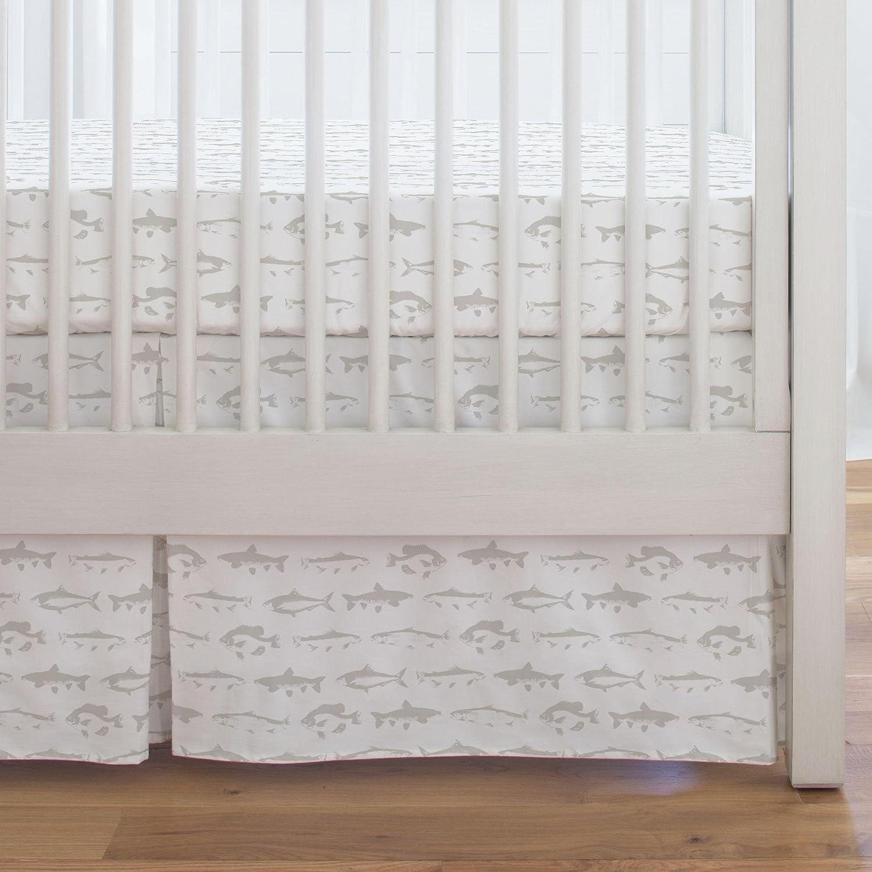Made in The USA Carousel Designs Watercolor Basketball Crib Skirt Single-Pleat 17-Inch Length Organic 100/% Cotton Crib Skirt