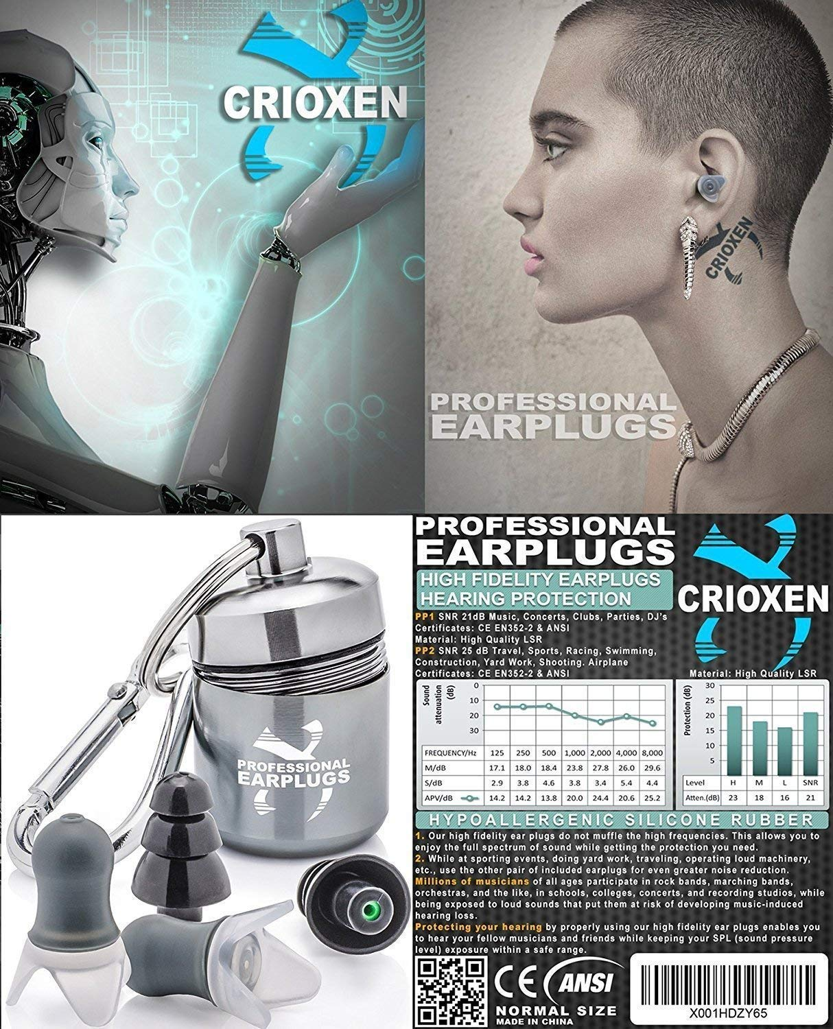 Noise Cancelling Ear Plugs for Sleeping - High Fidelity Silicone Earplugs Musicians' by CRIOXEN (Image #7)