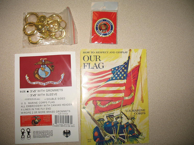 Sewn 3x5 Foot Usmc Marine Corps Flag Cotton Flag  (double Sided) : Patio, Lawn & Garden