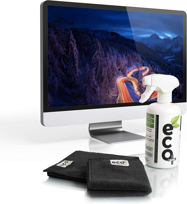 Ecomoist - Juego de limpieza de pantallas para TV, LCD, LED, ordenadores, tablets, smartphones, portátiles, teclados, lectores electrónicos, 500 ml: Amazon.es: Oficina y papelería