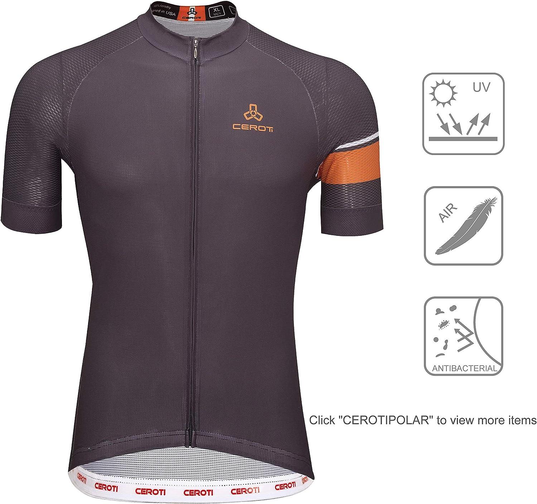 Bike Bibs Shorts with Side Pockets UPF50+,Team Custom Available CEROTIPOLAR Men LongInseam Cycling Bibs Padded