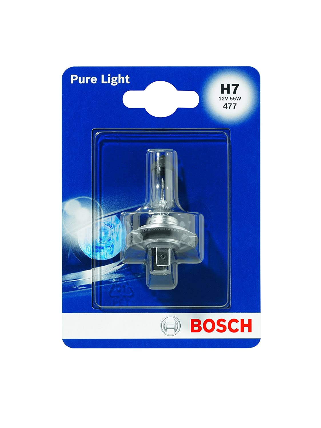 Amazon.com: H7 Halogen Bulb 1pcs 55 W PX26d 12V BOSCH Pure Light 1987301012: Automotive