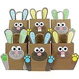 DIY Osterhasen Tüten mit Henkel - Geschenktüten zu Ostern zum selber Befüllen - zum Verpacken von Geschenken für Kinder und Erwachsene