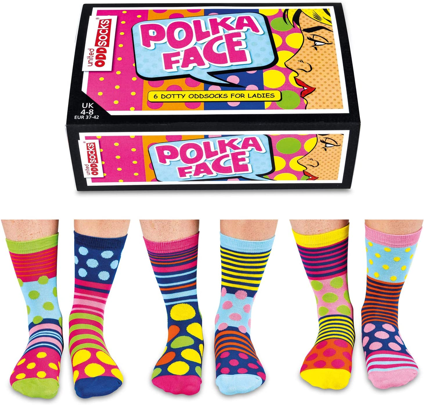 United Oddsocks Be A Unicorn Women UK Size 4-8 Six 6 Cute Odd Socks Set Gift