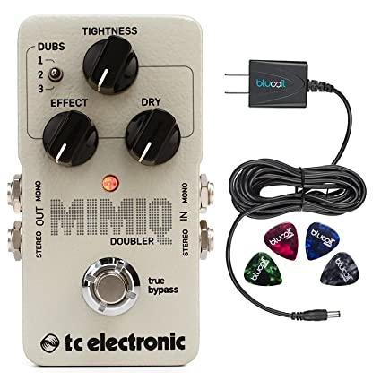 Amazon.com: TC Electronic Mimiq Doubler Guitar Effects Pedal Bundle with Blucoil Slim 9V 670ma Power Supply AC Adapter and 4-Pack of Celluloid Guitar Picks: ...