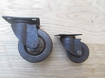 Rueda giratoria de hierro fundido de Ironmongery World®, para mobiliario industrial, diseño antiguo