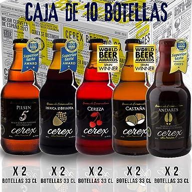 CEREX- Pack Degustación de 10 Cervezas Artesanas – Cerveza de ...